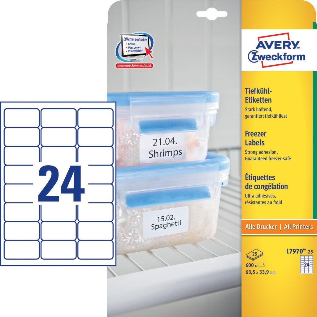 Etiquetas Para El Congelador L7970 25 Avery